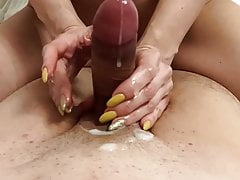 Cumshot Compilation - Handjob and Blowjob from Stepsister