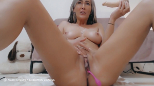 Blonde Milf With Big Tits Masturbating With A Dildo