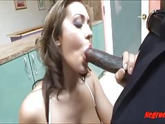 Dirty white tattooed girl taking big black cock