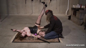 Ready For Intense Domination This Submissive Slut Is Bound On The Floor