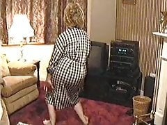 Mom dances and strips down on camera