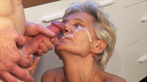 big cum load shot in grandmas eye