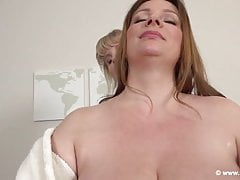 Casey Deluxe & Nadine Jansen Massage massage each other's Giant Boobs