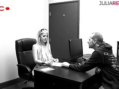 Blonde beauty likes to fuck with her boss,