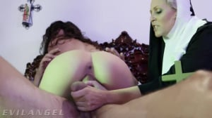 Steve Holmes, Julia Ann And Victoria Voxxx - Priest & Nuns Fuck The Demon Out Of Possessed Slut