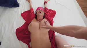 Stepma Alexis Blindfolded & Plastered All-over! With Tyler Nixon And Alexis Fawx