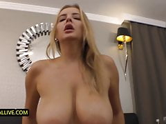 Busty Stepmom Wants Son's Big Cock Deep in Her Hairy Pussy