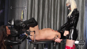Two Mistresses Full Fist, Strapon And Forced Handjob